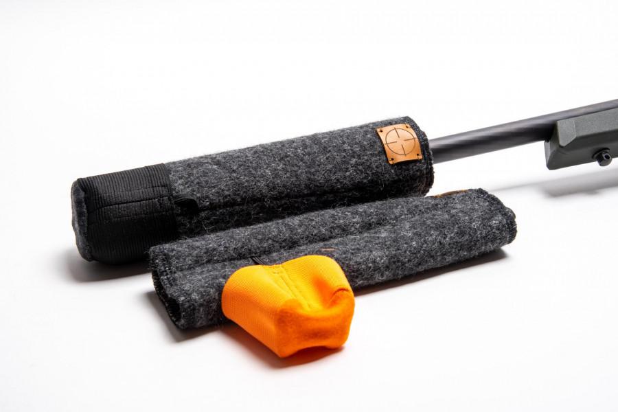 Jagaloden Schalldämpferschutz Orange