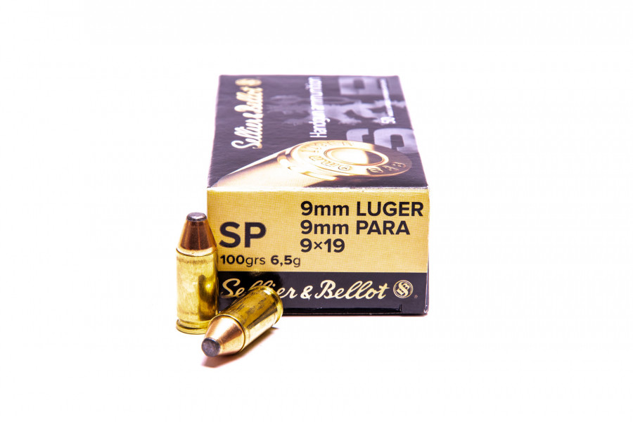 Pistolenpatronen Sellier & Bellot 9x19 mm / 9mm Para TM