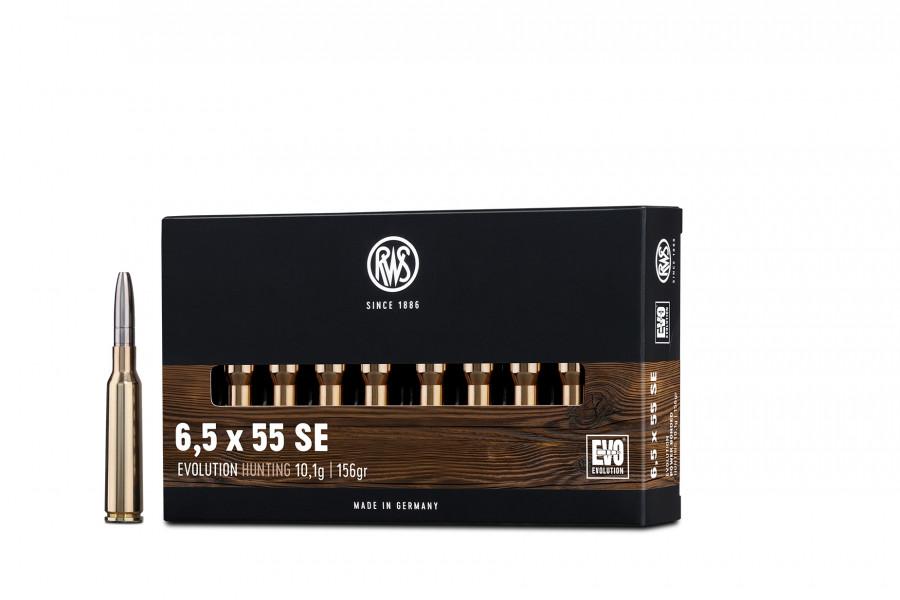Büchsenpatronen RWS 6,5 x 55 EVO 10,1g/156gr