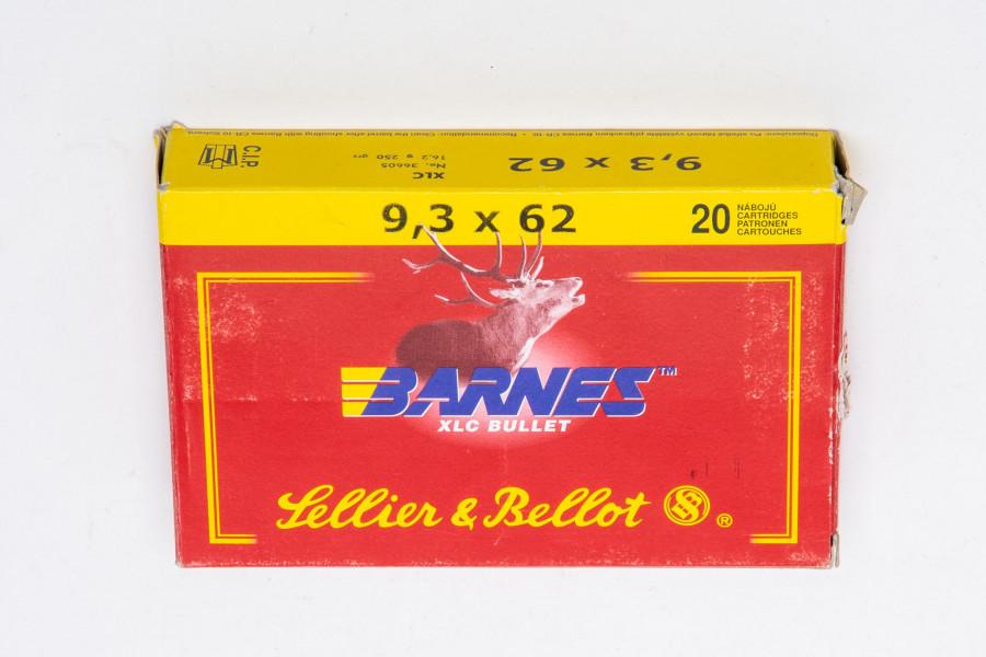 Büchsenpatronen Sellier & Bellot 9,3 x 62 Barnes XLC
