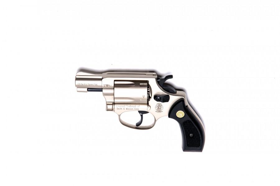 Smith&Wesson Gasrevolver Chief Special vernickelt 9mmR.K.