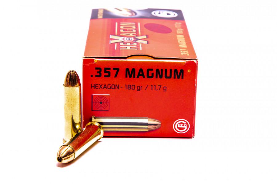 Revolverpatronen Geco 357 Magnum Hexagon