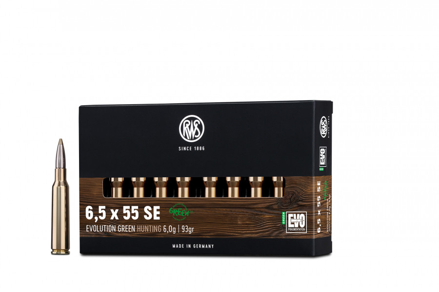 Büchsenpatronen RWS 6,5 x 55 EVOgreen 6,0g/93gr BLEIFREI