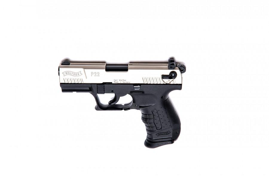 Walther Gaspistole P22 Nickel 9mmPAK