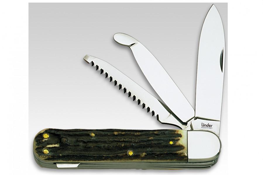 Linder Jagdmesser mit Säge und Aufbrechklinge