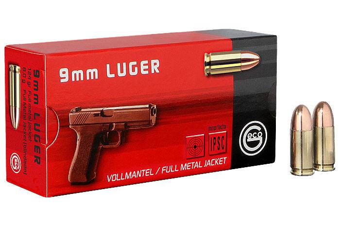 Pistolenpatronen Geco 9x19 mm / 9mm Para FMJ