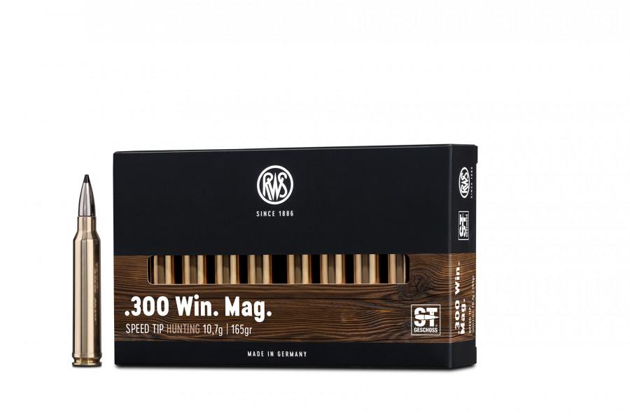 Büchsenpatronen RWS 300 Win. Mag. ST-Professional 10,7g/165gr