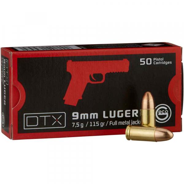 Pistolenpatronen Geco DTX 9x19 mm / 9mm Para VM