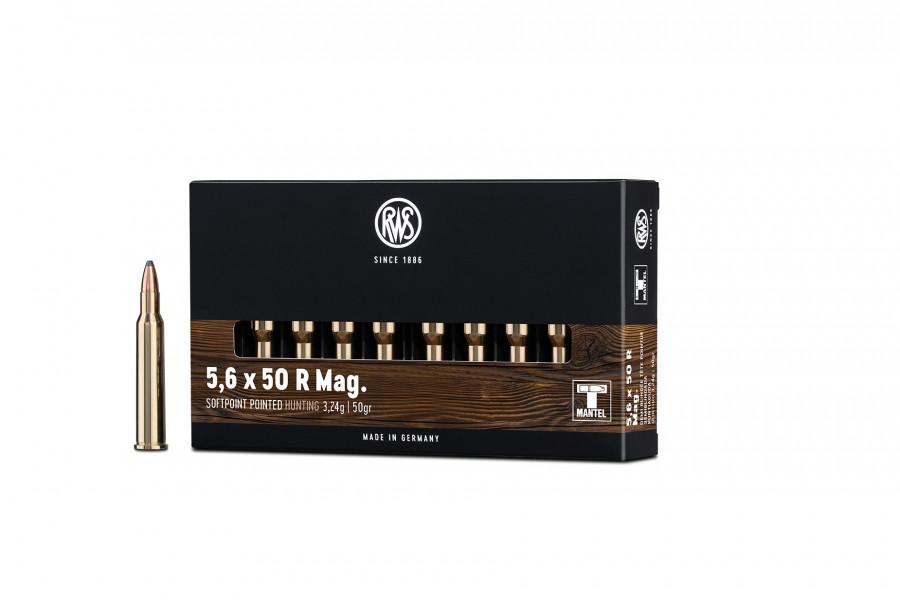 Büchsenpatronen RWS 5,6 x 50 R Mag. TMS 3,2g/50gr