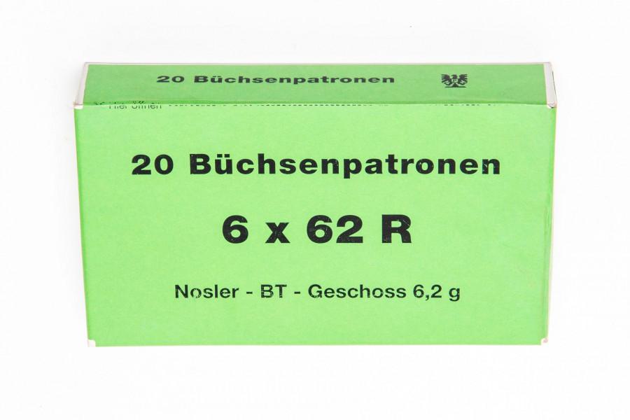 Büchsenpatronen Dorfner 6 x 62 R Nosler Ballistic Tip