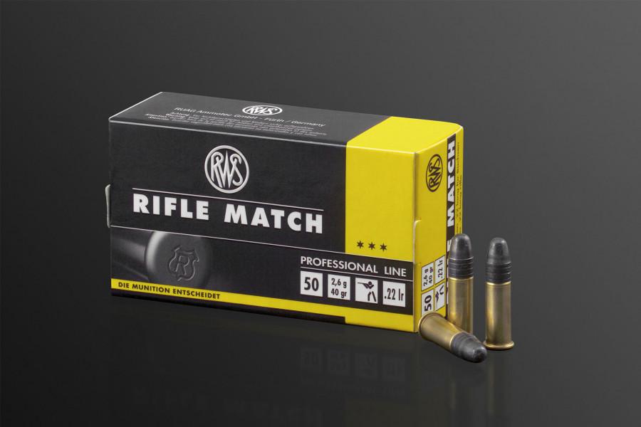 RWS Randfeuerpatronen 22lr Rifle Match
