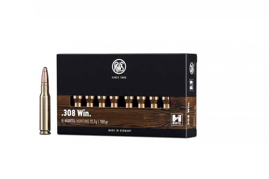 Büchsenpatronen RWS 308 Win. HMK 11,7g/180gr