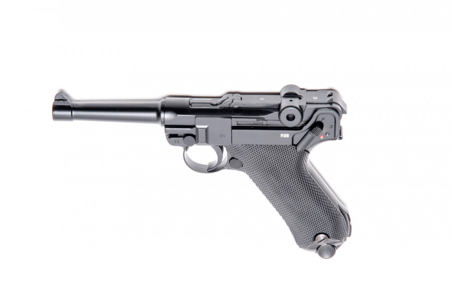 Legends CO² Pistole P08 brüniert Blowback 4,5mmBB