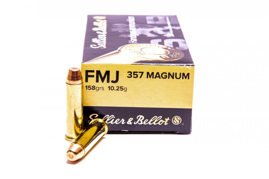 Revolverpatronen Sellier & Bellot 357 Magum FMJ