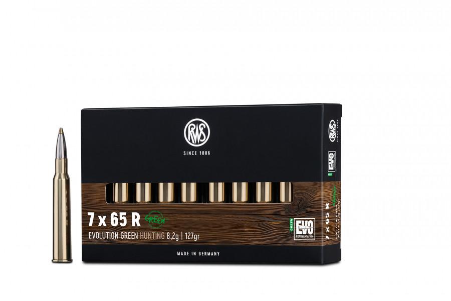 Büchsenpatronen RWS 7 x 65 R EVOgreen 8,2g/127gr BLEIFREI