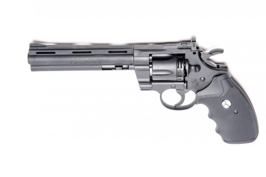 """Colt CO² Revolver Python 6"""" KS schwarz 4,5mm +BB"""