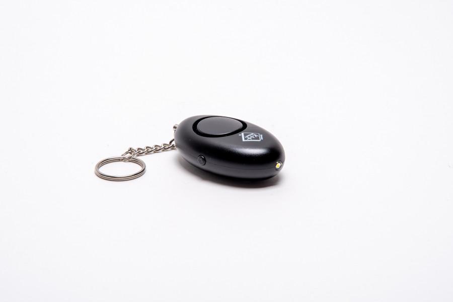 Schrillalarm Schlüsselanhänger schwarz 120dB
