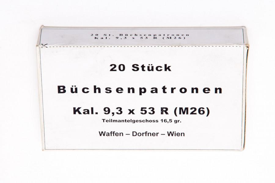 Büchsenpatronen Dorfner 9,3 x 53 R Finnish