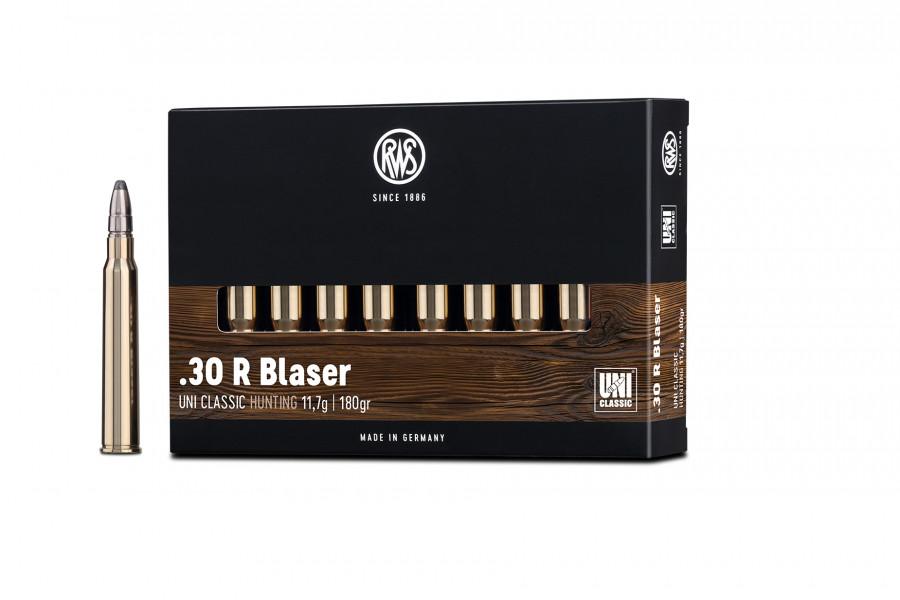 Büchsenpatronen RWS 30 R Blaser UNI Classic 11,7g/180gr