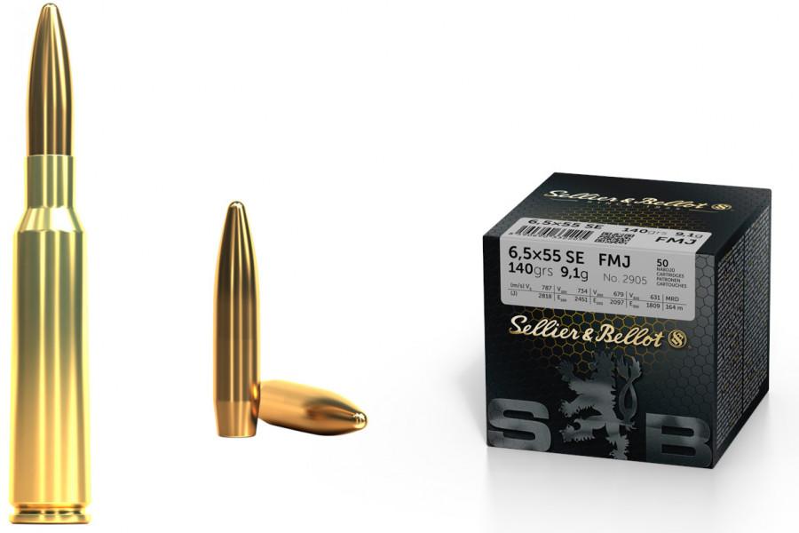 Büchsenpatronen Sellier & Bellot 6,5 x 55 FMJ