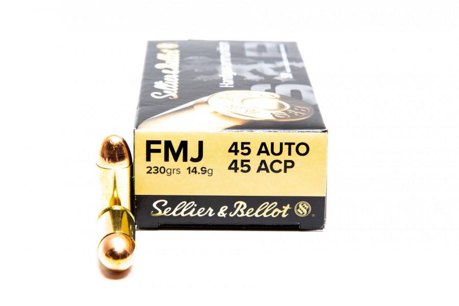 Pistolenpatronen Sellier & Bellot 45 Auto FMJ