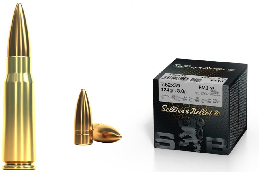 Büchsenpatronen Sellier & Bellot 7,62 x 39 FMJ