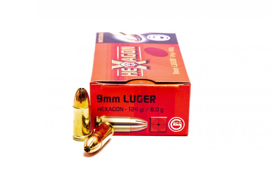 Pistolenpatronen Geco 9x19 mm / 9mm Para Hexagon