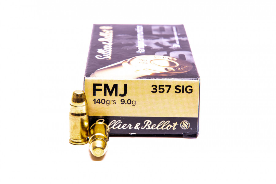 Pistolenpatronen Sellier & Bellot 357 SIG FMJ
