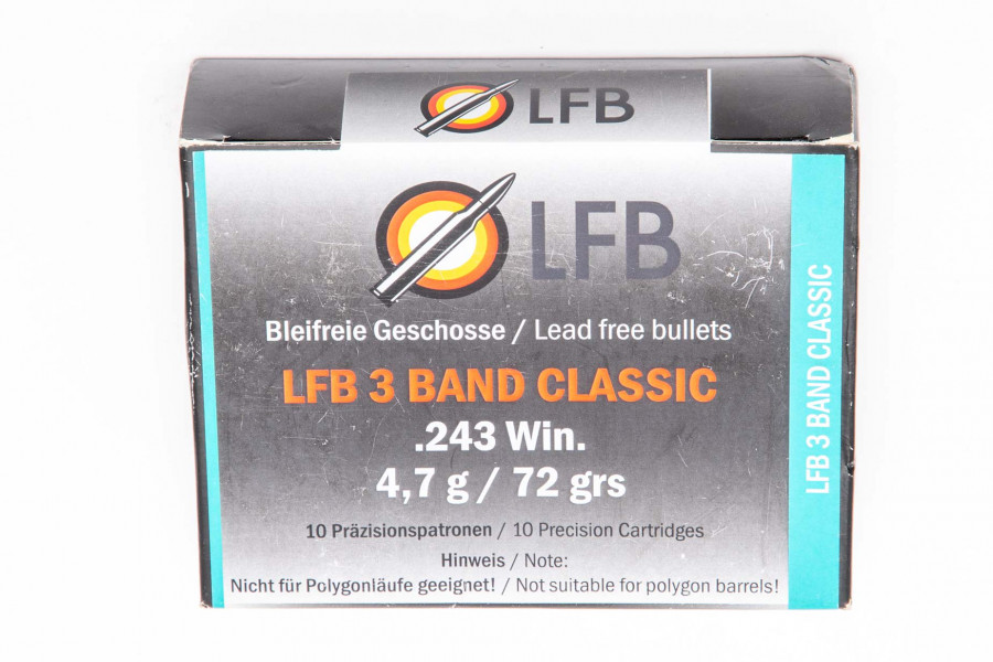 Büchsenpatronen LfB 243 Win. LFB 3 Band Classic